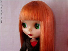 blythe doll rerooting thatching and finishing